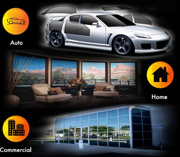 Solar Film Graphics for Auto, Home & Business